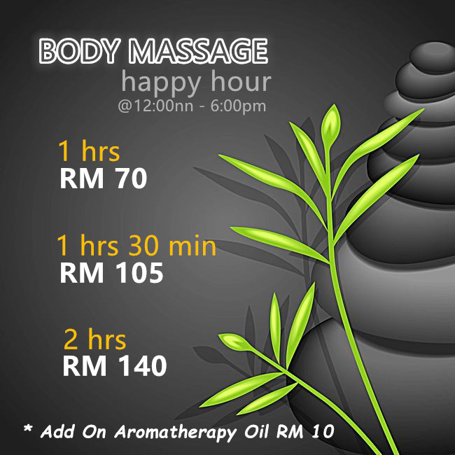 BODY MASSAGE @ Happy Hour