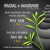 FACIAL + BODY MASSAGE @ After 6pm